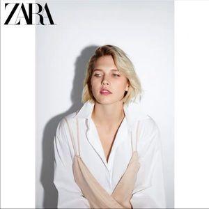zara new collection beige jumpsuit.